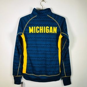 Michigan 1/4 zip Sweatshirt By Colosseum NWT Sz S